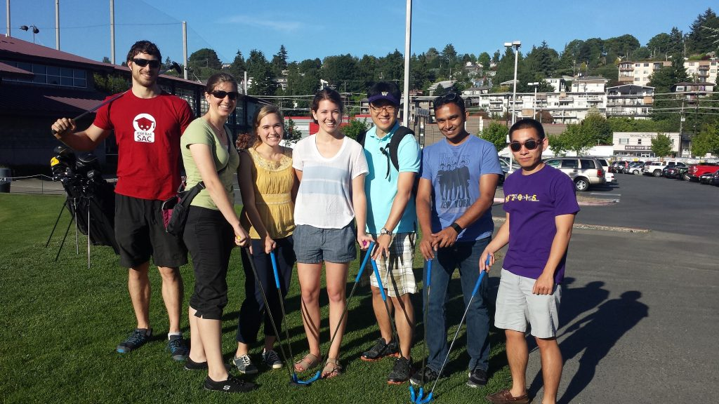 Group photo from minigolf