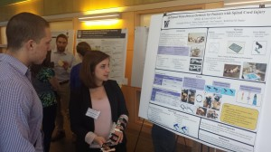 Alex presenting her poster at the Northwest Biomechanics Symposium.
