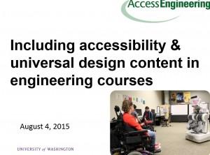 Title slide from AccessEngineering webinar.
