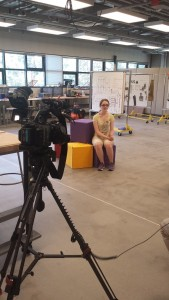 Hannah giving an interview for KING 5 News.