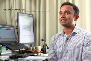 Gaurav Mukherjee speaking in the ME Department's video.