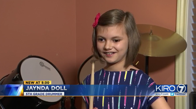 Jayna Doll is featured on three local news stations as a great drummer and design partner for upper-limb orthoses.
