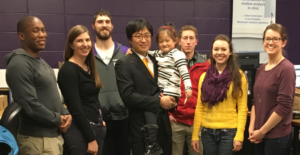 Dr. Hwan Choi passes his Final Examination. Shown in the picture with his PI and lab members after his defense.