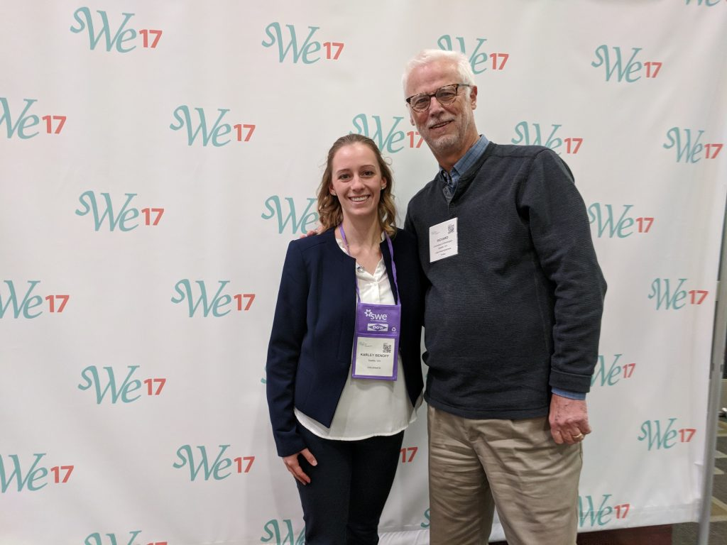 Karley Benoff with one of the panelists Dr. Richard Ladner of the University or Washington CSE department