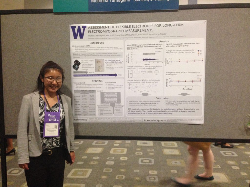 Momona Yamagami presents her research during a poster session