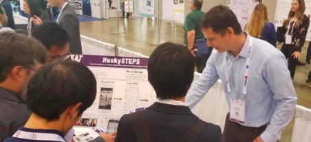 Nick demonstrates HuskySTEPS at the Developer's Showcase.